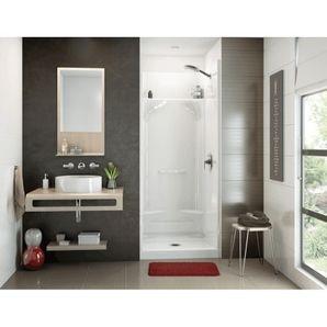 White Essence 32 X32 4 Piece Fibreglass Shower Cabinet Shower Cabinets Fiberglass Shower Tiny Bathrooms