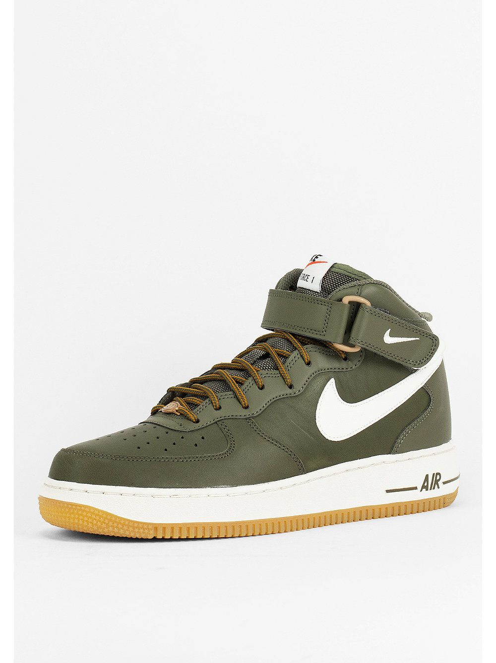 Nike Air Force De Schuh 1 Mi 07 D'olive / Voile / Gomme
