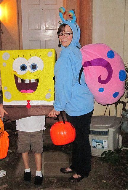 homemade spongebob and gary costumes by thislivingdocument