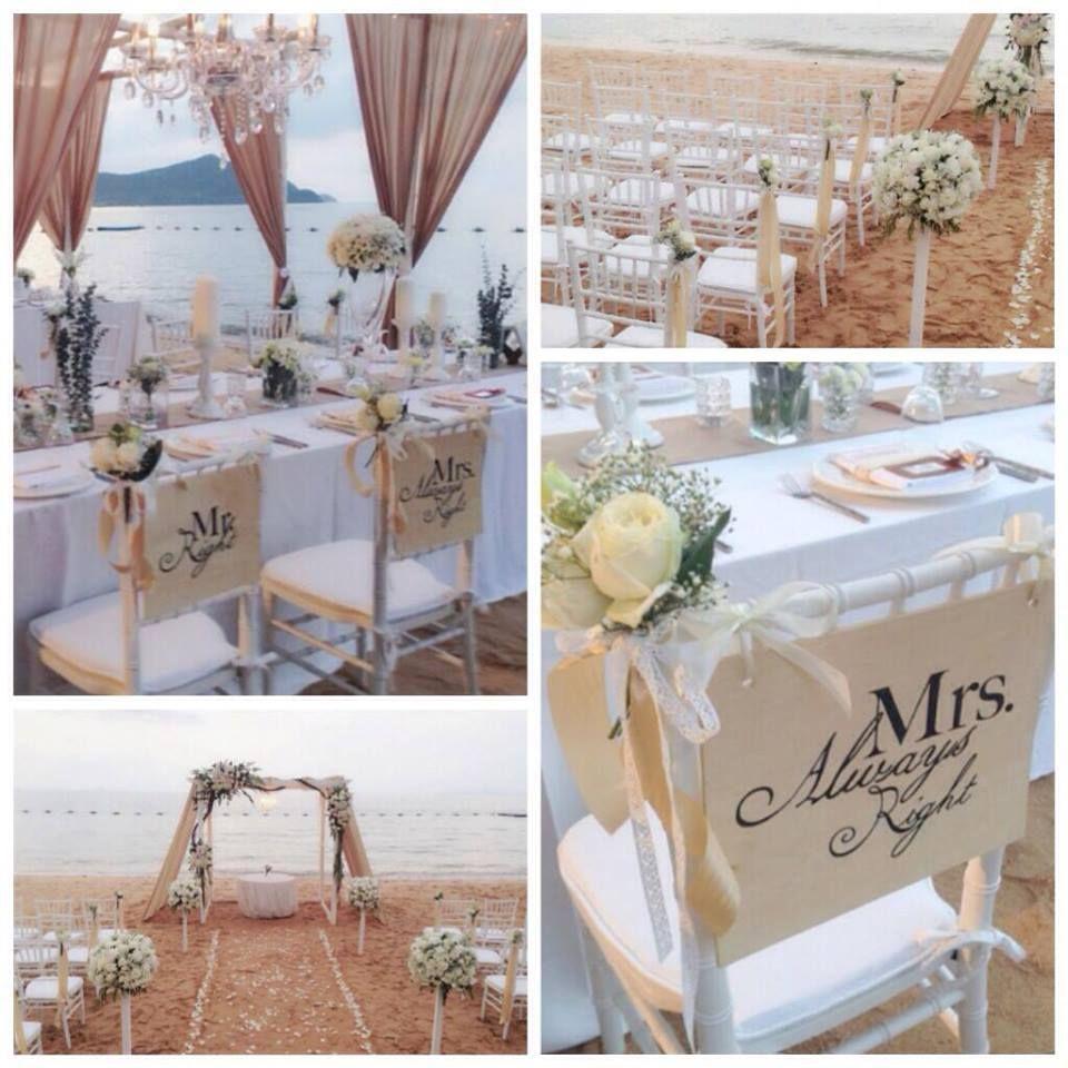 A Beautiful Beach Wedding Setting At Pattaya Sea Sand Sun Resort Spa Thailand