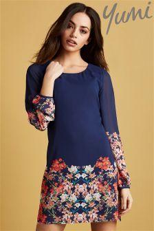 Yumi Blossom Print Tunic Dress
