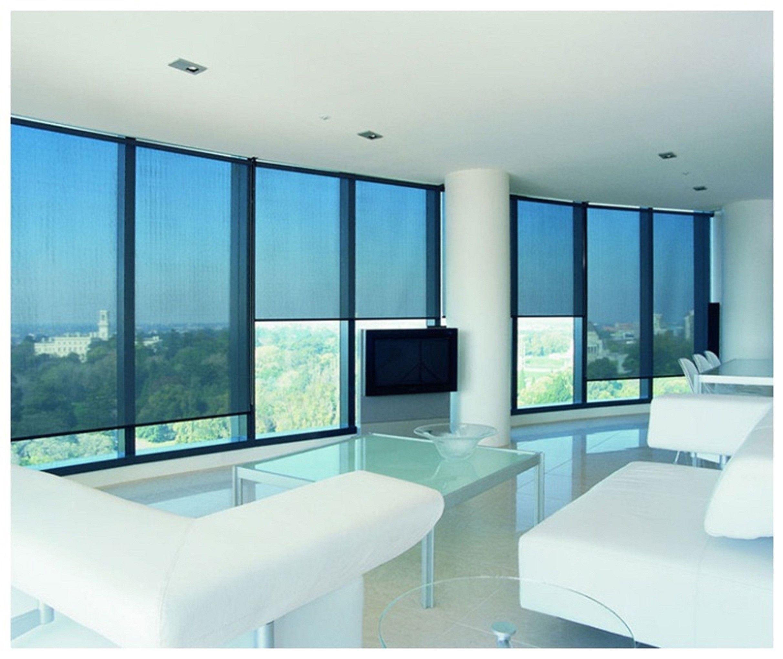 Sheer fabric blinds (black) (via Eagle Group) Blinds