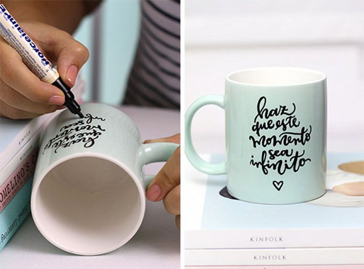 Resultado de imagen para tazas decoradas a mano con frases - Tazas decoradas a mano ...