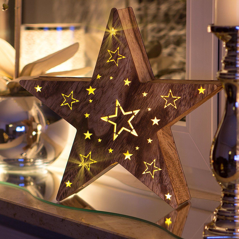 teelichthalter mit stern holzdeko weihnachtsdeko t. Black Bedroom Furniture Sets. Home Design Ideas