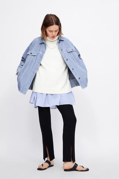 09ba613018 ZARA - Female - Corduroy jacket - Sky blue - Xs | Products in 2019 ...