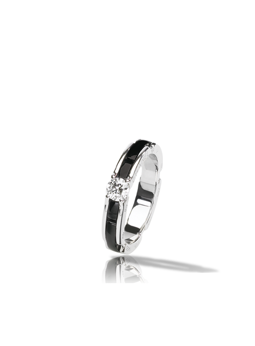 Chanel Ring In White Gold Black Ceramic And Diamond Sigh