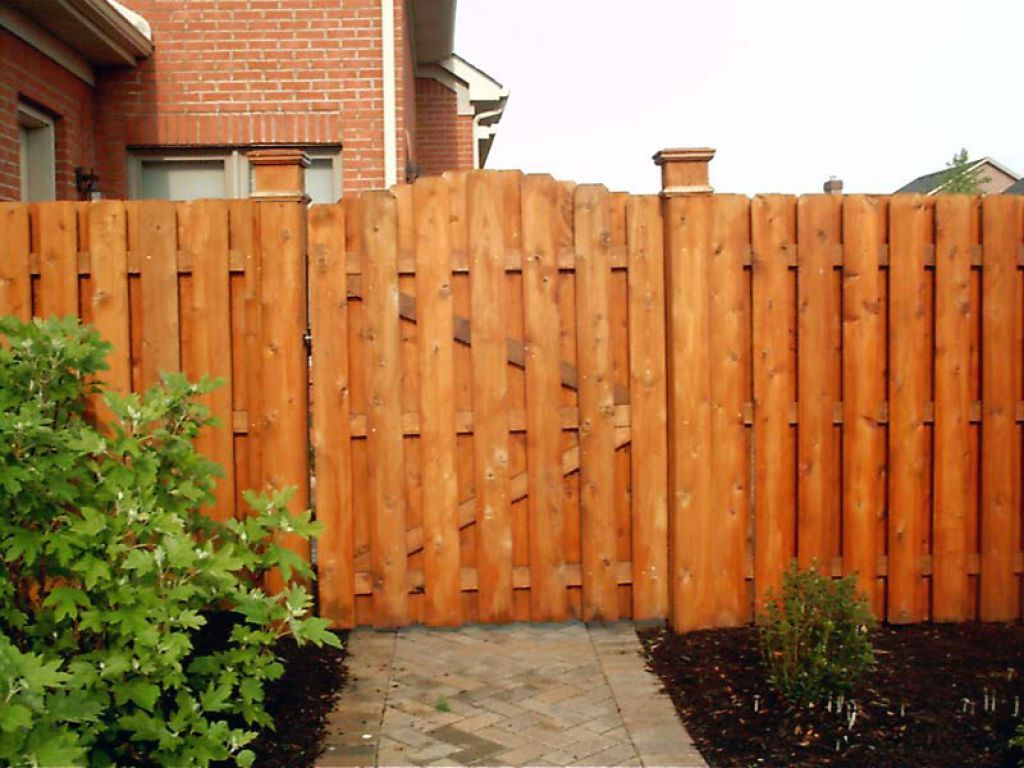 Wooden Shadow Box Fences With Gate Pinteres