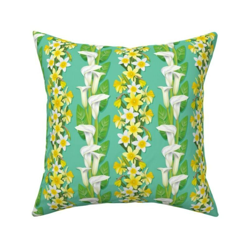 Calla Lily Daffodil Lilies Throw Pillow Cover W Optional Insert By Roostery Pillows Ebay Link In 2020 Throw Pillows Pillows Throw Pillow Covers