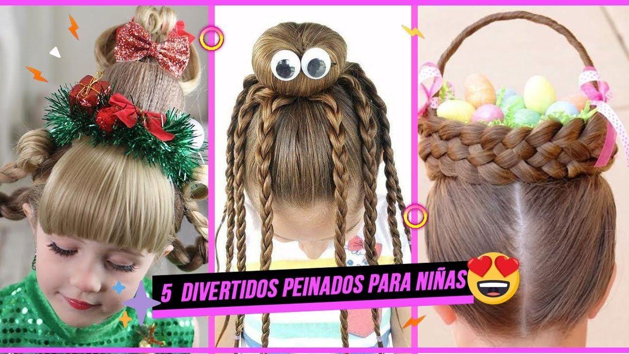 Lindo y sin esfuerzo peinados locos para niñas Fotos de cortes de pelo tutoriales - 5 DIVERTIDOS PEINADOS PARA NIÑAS 2019 *te encantarán ...