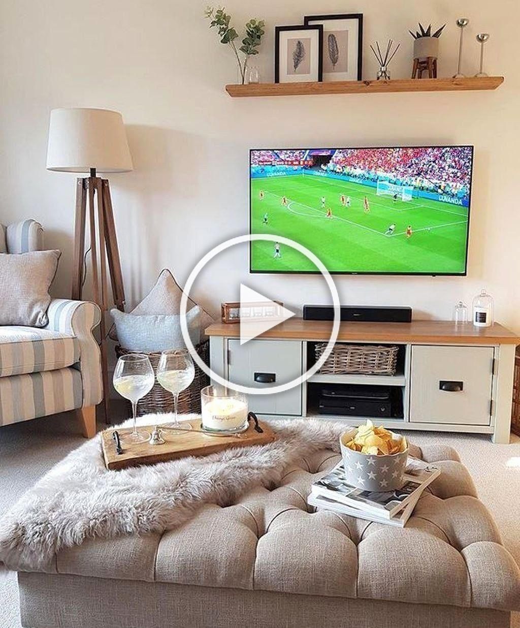 Pin On Tv Stand Small Living Room Ideas With Tv Tv Wall Design Bedroom Tv Wall