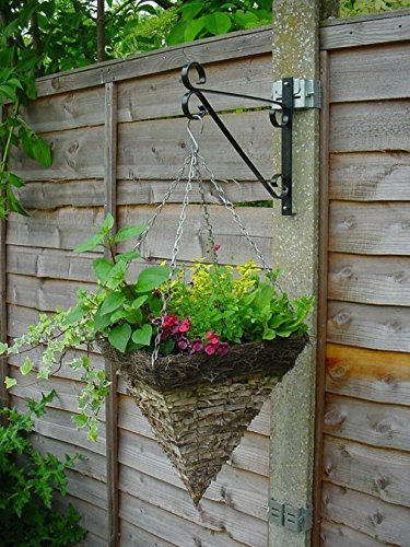 Postfix Pf10v Value Pack Of 4 Fix Your Own Hanging Basket Brackets To 4 X 4 Slotted Concrete Fence Posts No Dri Plant Bracket Plants Metal Garden Fencing