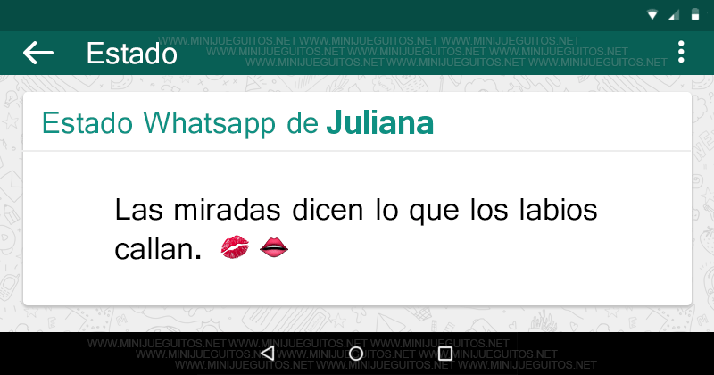 Tu Estado Whatsapp Minijueguitos Net Estados Wssp Pinterest