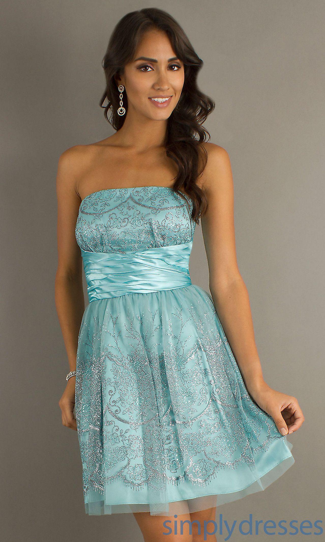 Dress, Short Strapless Dress - Simply Dresses | Love it! | Pinterest ...