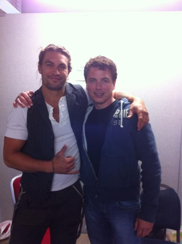 "Jason Momoa and John Barrowman! To quote Captain Jack Harkness, ""I can't even tell you what I'm thinking right now."" So much fucking win!!"