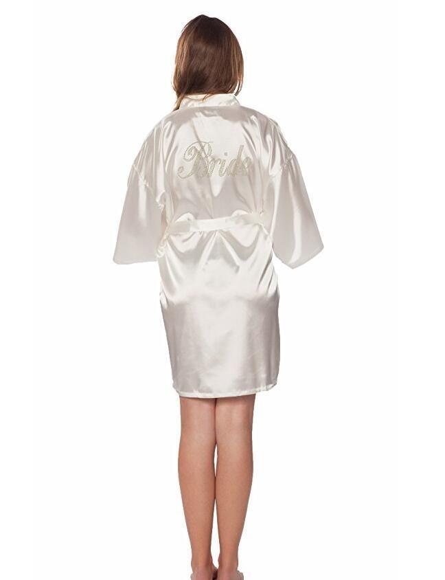 48f1d616c7aed Robe Wedding Bride Women Sleepwear nightwear White Bridal Dress ...