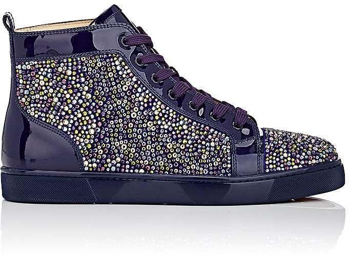 timeless design 749f1 823bd Christian Louboutin Men's Louis Flat Patent Leather Sneakers ...