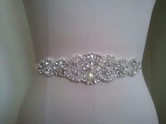 beaded shiny crystal wedding belt dress sash wedding/bridal sash
