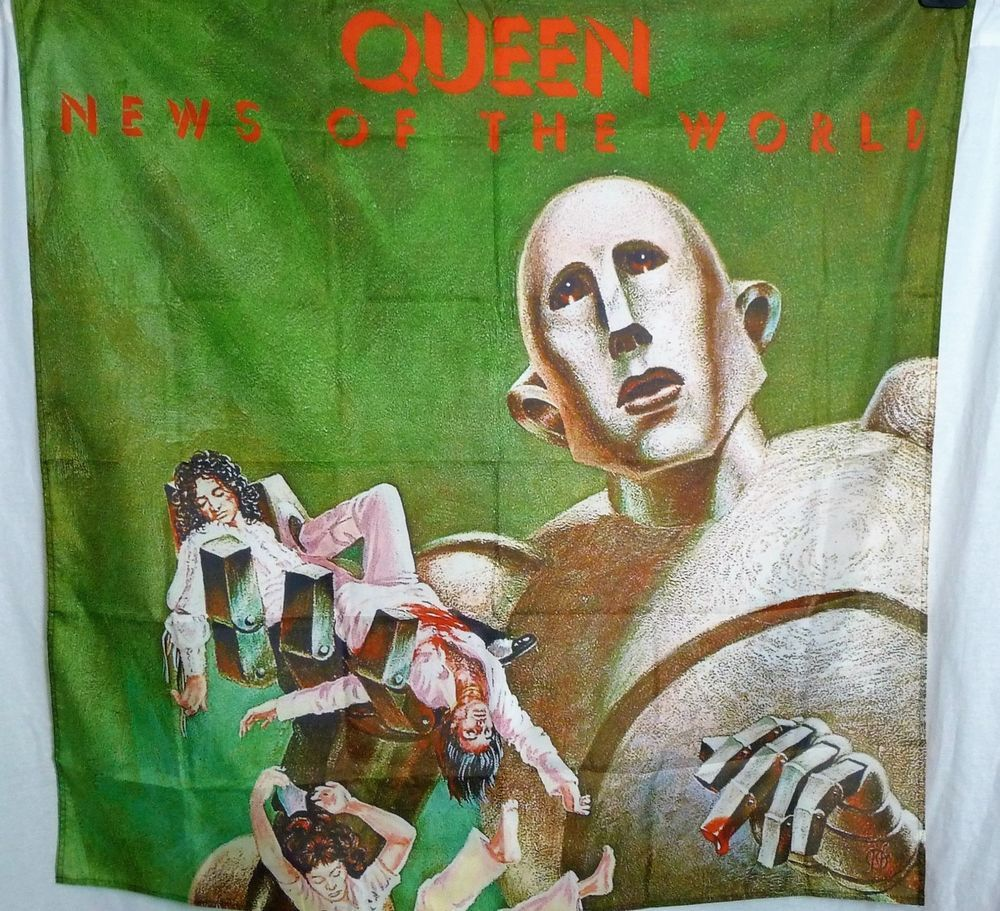 Details about Queen News of the World Robot Embroidered