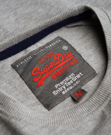 Mens Vintage Logo T Shirt In Grey Marl Vintage Logo Tshirt Logo Woven Labels
