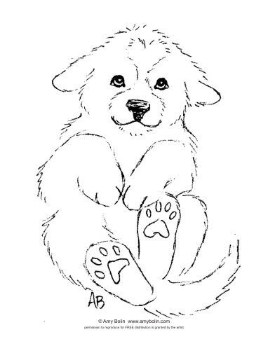 FREE COLORING SHEET DOWNLOAD Puppy Love GREAT PYRENEES AMY