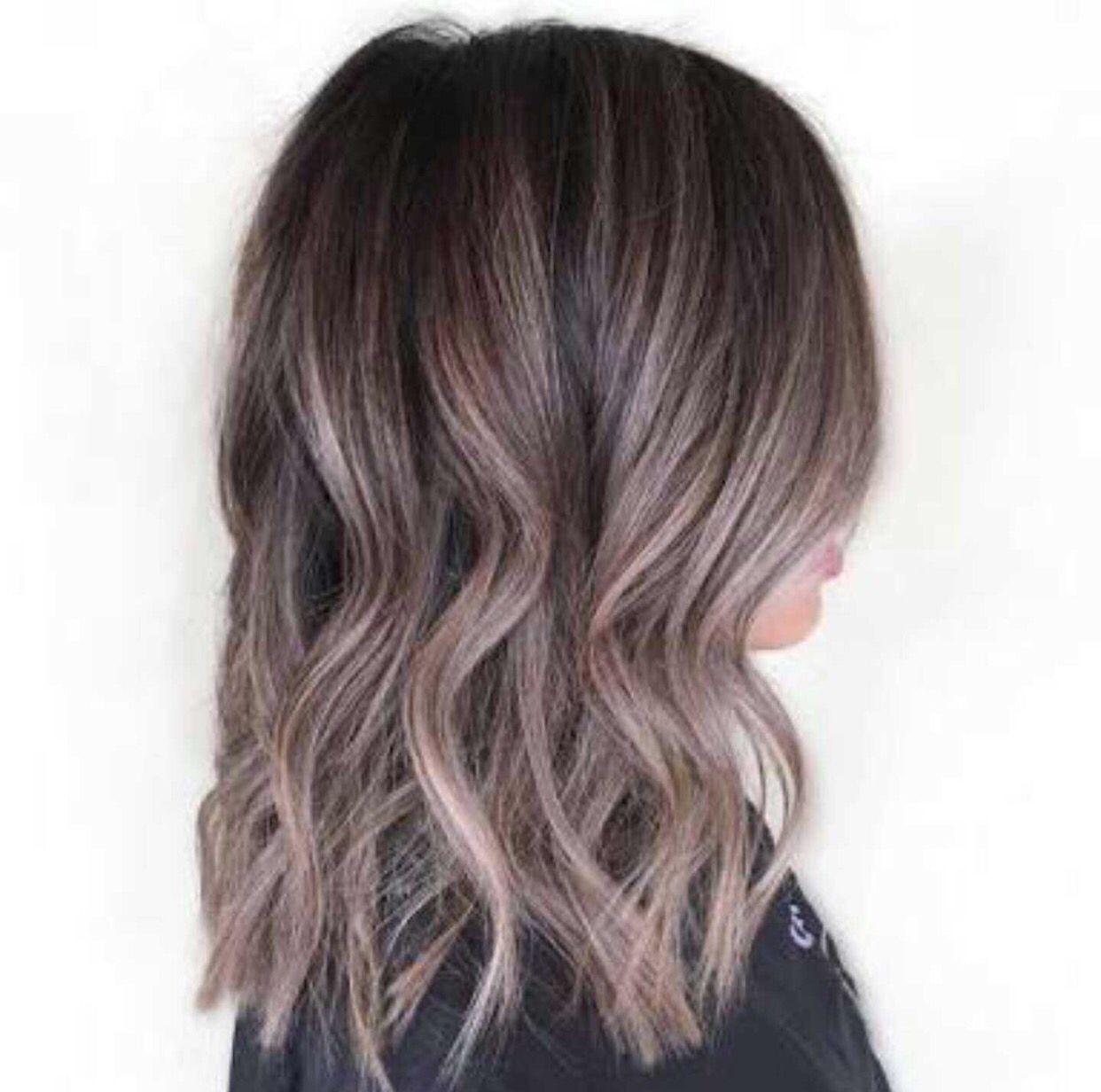 Lilac Silver Hair Styles Balayage Hair Hair Color Balayage