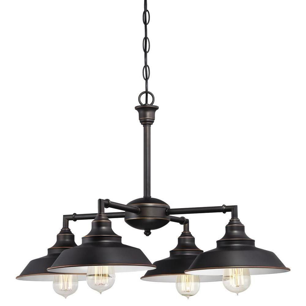 Westinghouse Iron Hill 4-Light Oil Rubbed Bronze Convertible ...