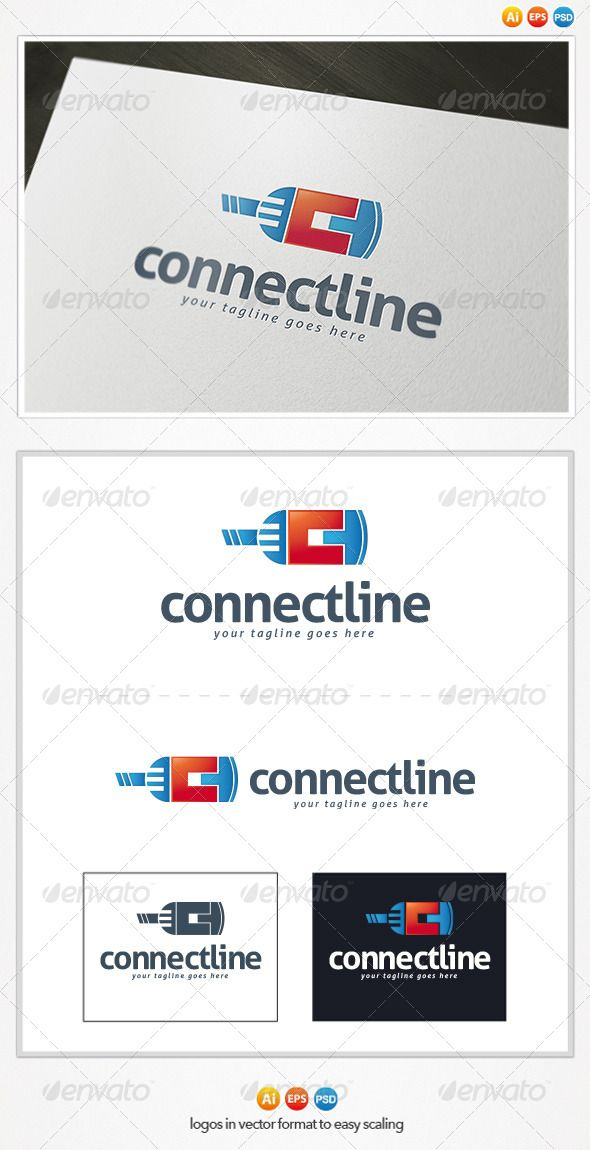 Connect Line Logo — Photoshop PSD #file #service • Available here → https://graphicriver.net/item/connect-line-logo/4482671?ref=pxcr
