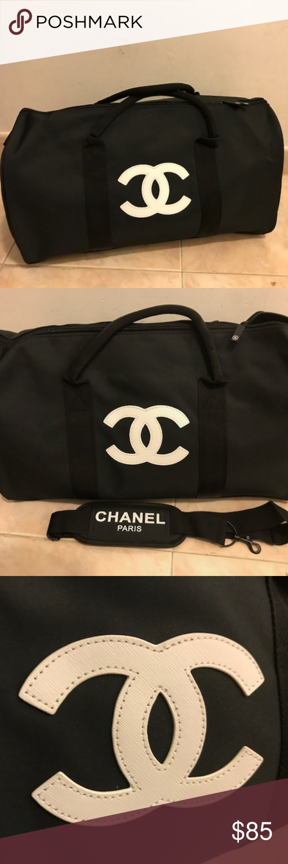 05c30edd3f34 Chanel VIP Gift Bag Duffle Travel Gym Bag | Vip, Gym and Authenticity