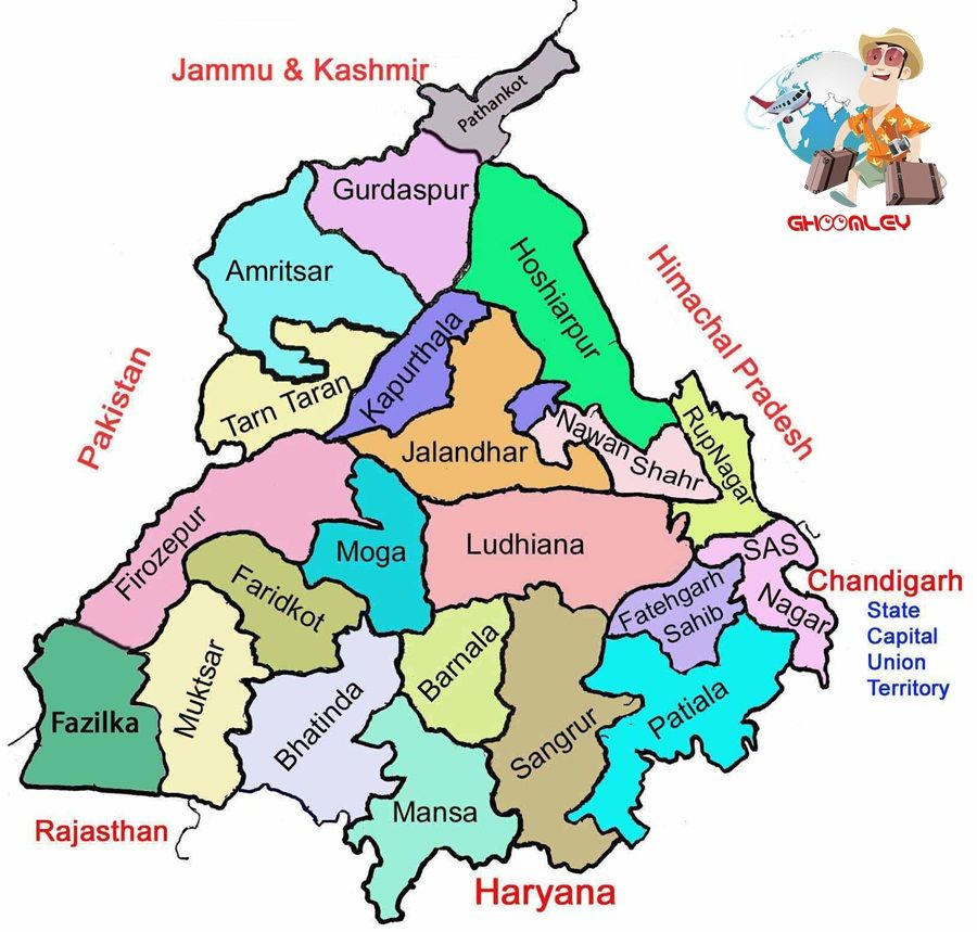 Punjab Map India map, Map, North india