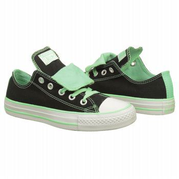 5bf4efa44923 Athletics Converse Women s All Star Double Tongue Ox Sneaker Black Peppermint  Shoes.com