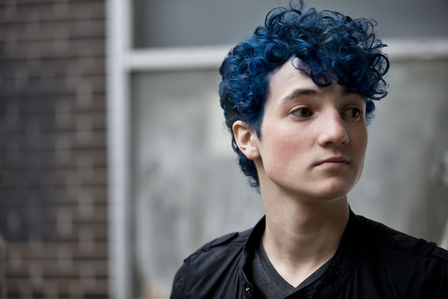 Picture Day Light Blue Hair Light Curls Blue Hair