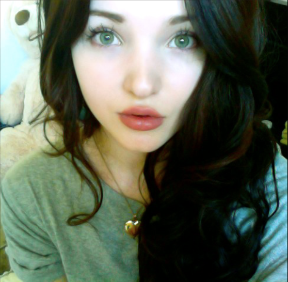 ficou linda de cabelo escuro