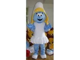 Smurfette - adult sized costume rental, mascot smurf rental for your Smerf-tastic kid's birthday party! #costumerental #birthday #smurfs