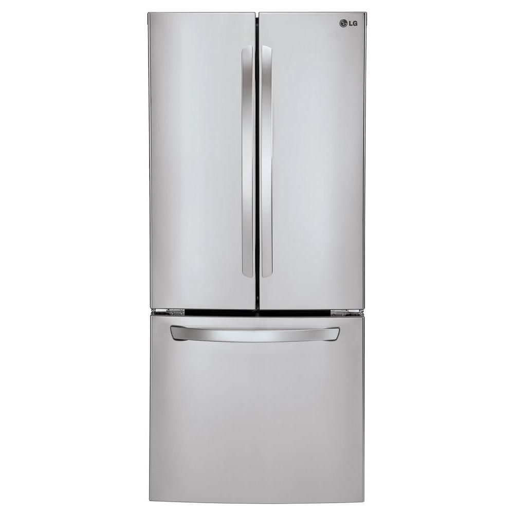 Lg Electronics 30 In W 21 8 Cu Ft French Door Refrigerator In Stainless Steel Lfc22770st The Home Depot French Door Refrigerator Lg French Door Refrigerator French Doors