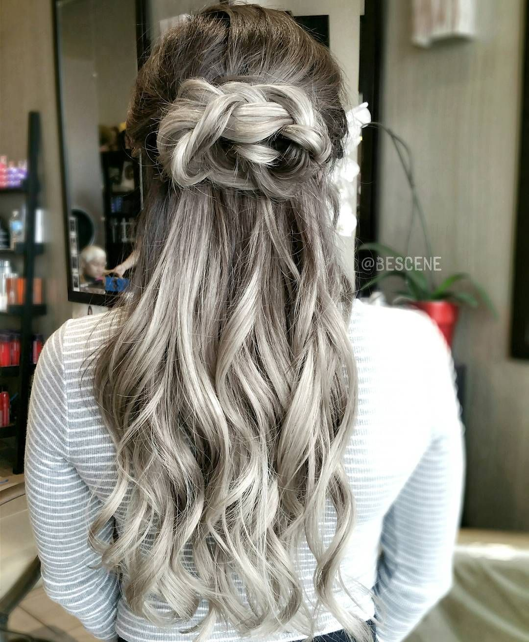 Linh Phan On Instagram K N O T T E D N A T U R A L Styled And Braided By Maayanbescene Color By Me Using Grey Hair Color Hair Trends Grey Ombre Hair