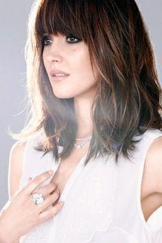 Rose Byrne Blunt Fringe Shoulder Length Haircut Google Search