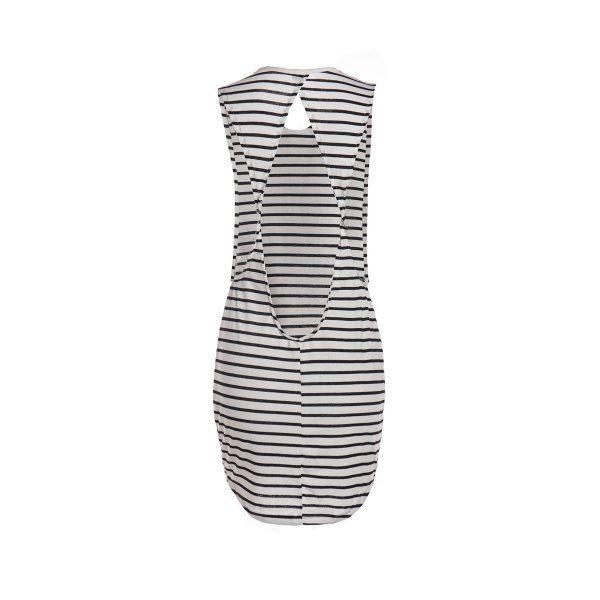 Stylish Cut Out Sleeveless Scoop Neck Striped Women's Dress — 8.96 € Size: L Color: STRIPE
