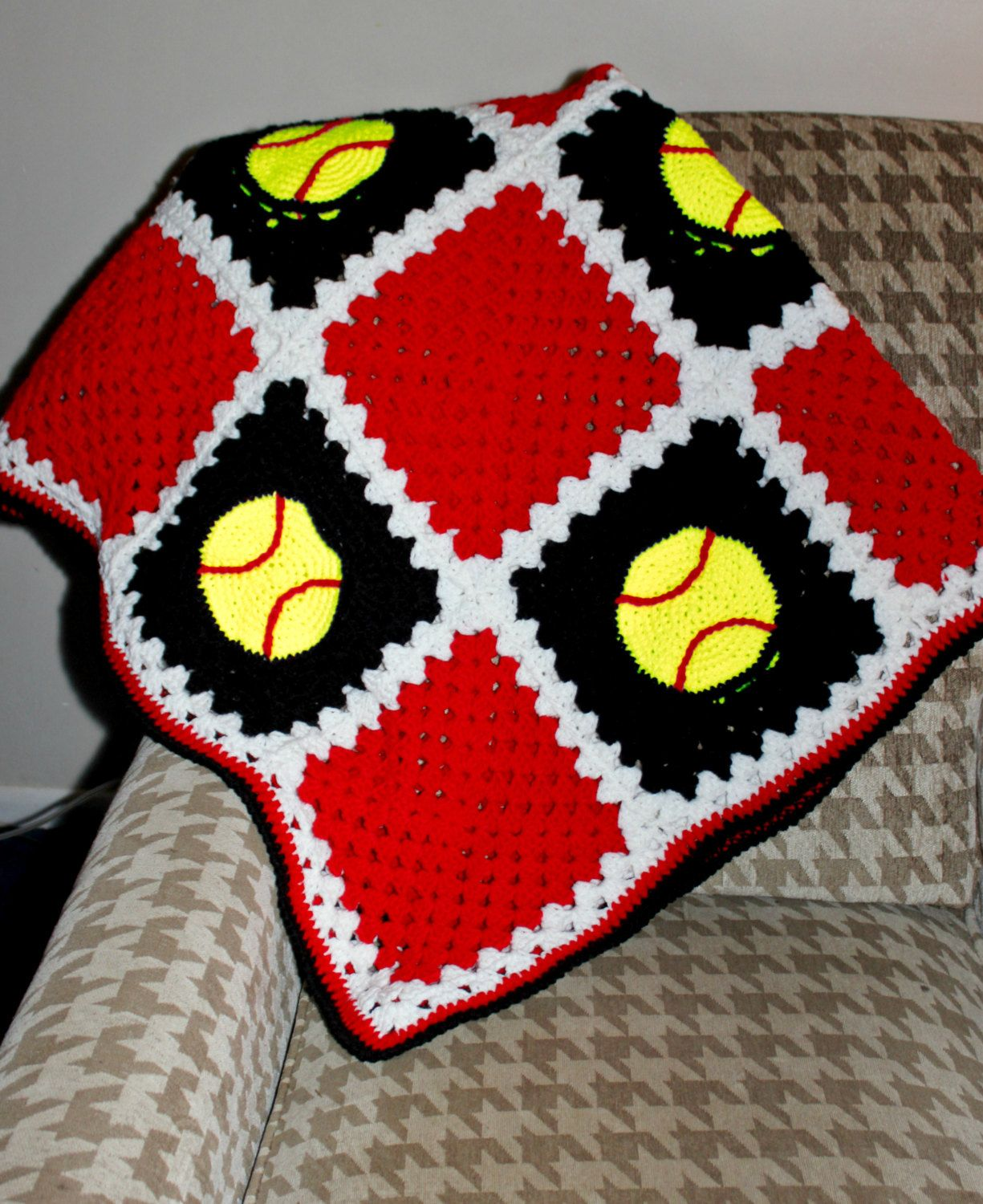 Softball Strikes Crochet Afghan Pattern | Pinterest | Crochet afghan ...