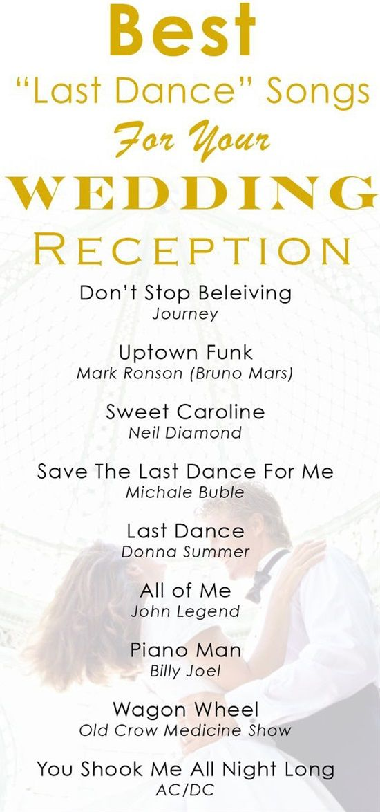 Wedding Last Dance Songs Wedding Reception Music Wedding Songs Reception Wedding Songs