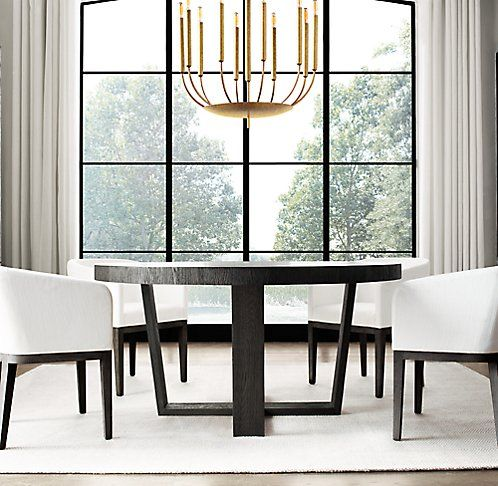 All Round Tables Rh Modern Round Dining Table Modern