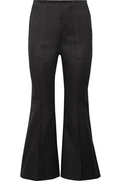 Outlet Discount Sale Cropped Cotton-blend Flared Pants - Black Bassike Free Shipping Best Really Outlet Discount Classic Online sVxPGO