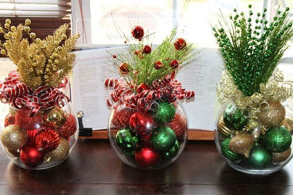 ideas de decoracion de navidad - Buscar con Google | Flores ...