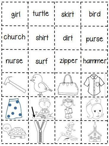 First Grade Shenanigans: Work Work Freebie (er, ir, ur) | language ...