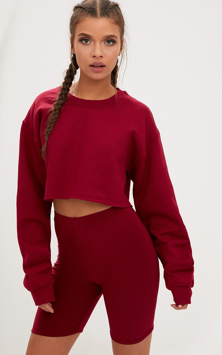 cc96c0297 Image Maroon Top Outfit, Combat Pants, Cotton Sweater, Cropped Sweater, Sweater  Hoodie