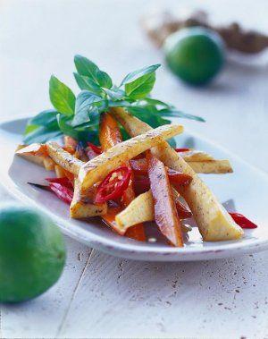 Rodfrugter stegt med chili og lime