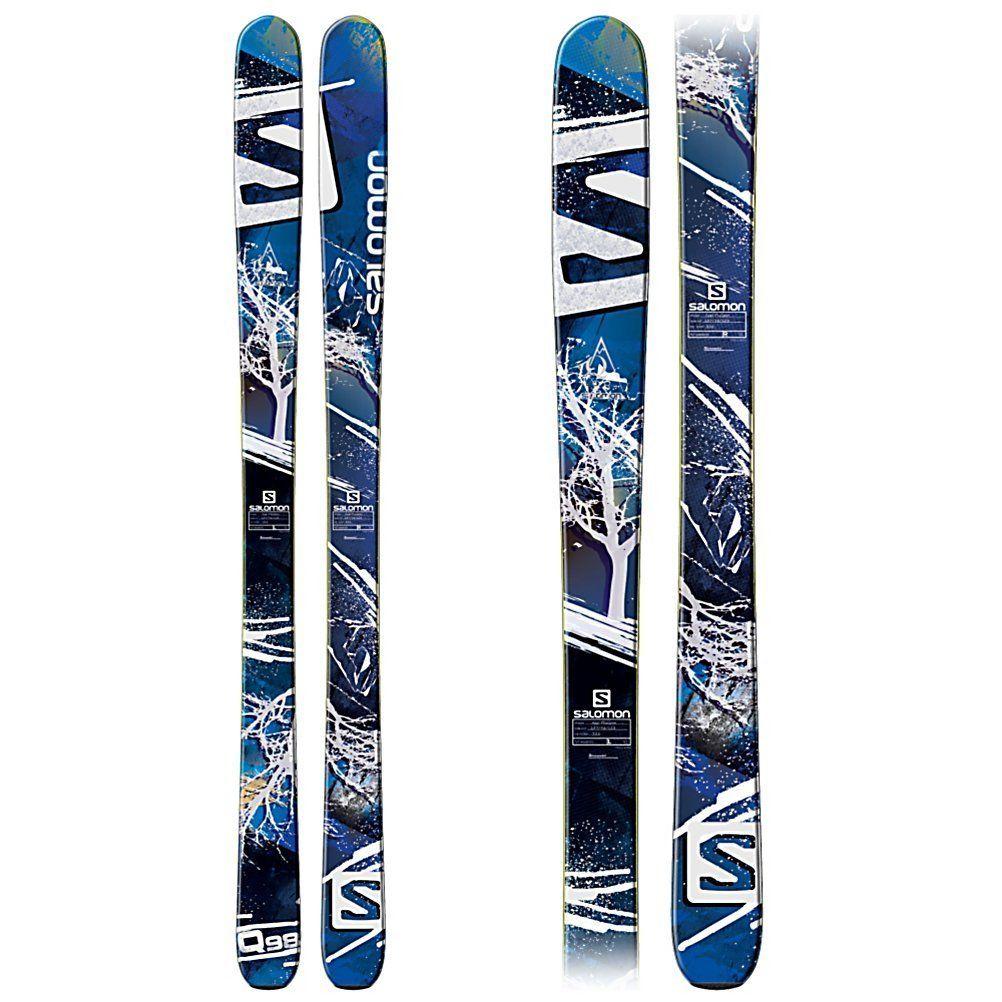 Amazon.com : Salomon Q-98 Skis Blue/White/Black Mens : Sports & Outdoors