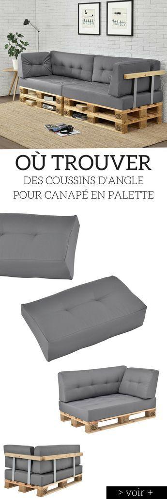 Coussin pour palette o trouver des coussins pour meubles en palette diy drewno - Trouver des meubles de salon pour vous ...