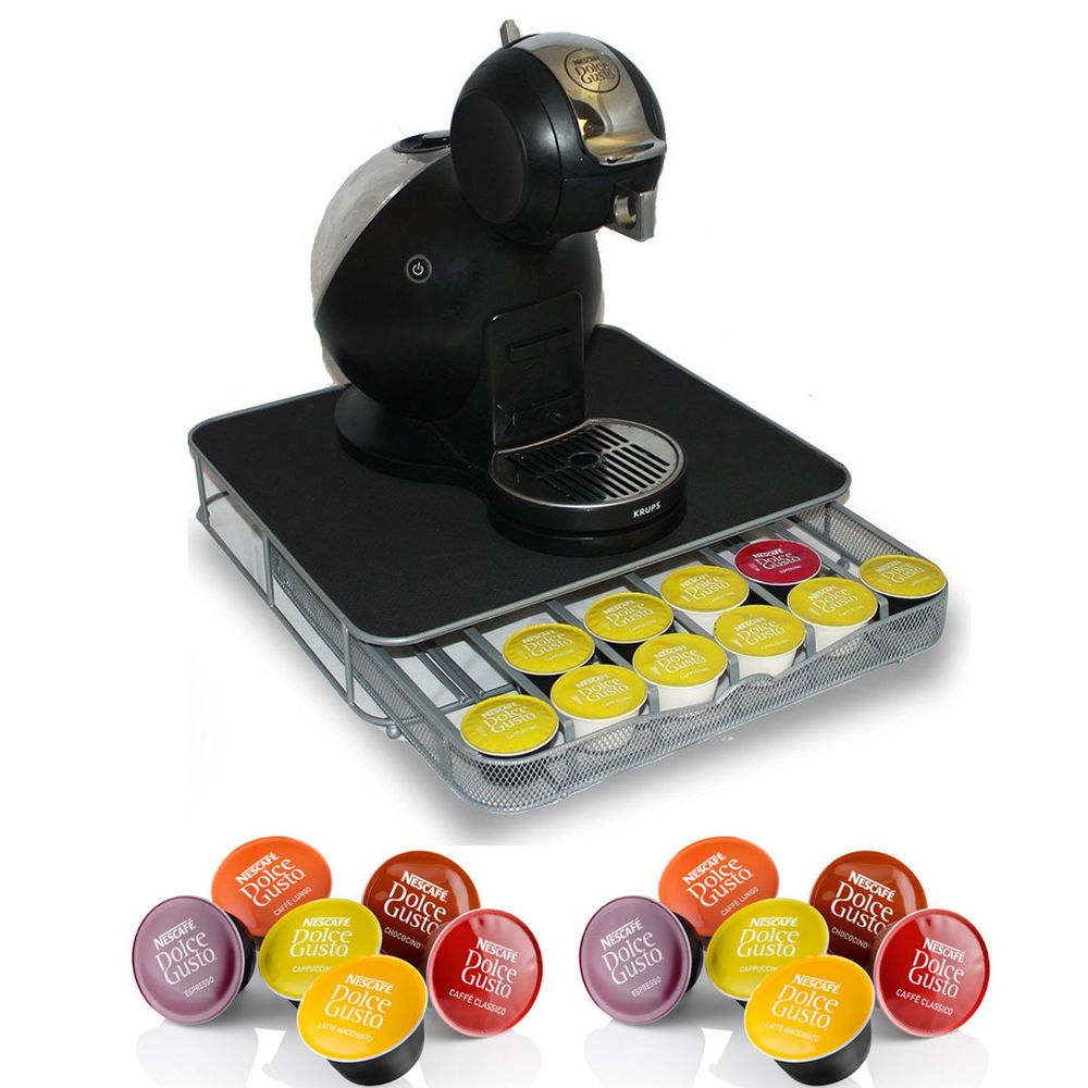 36 coffee pod holder drawer special for nescafe dolce gusto with machine stand dolce gusto. Black Bedroom Furniture Sets. Home Design Ideas