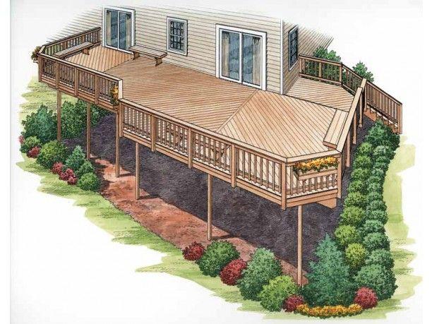 Deck Plans At Dream Home Source Deck Building Plans House Deck Second Story Deck Deck Building Plans