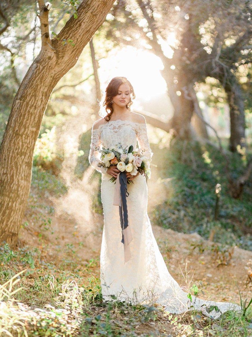 Blue Copper So Cal Winter Wedding Inspiration Chic Vintage Brides Forest Wedding Dress Winter Wedding Wedding Dresses [ 1133 x 850 Pixel ]